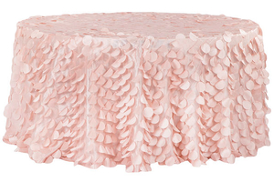 Wholesale 120 Petal Circle Taffeta Round Tablecloth For Sale