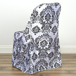 Damask Flocking Folding Chair Covers