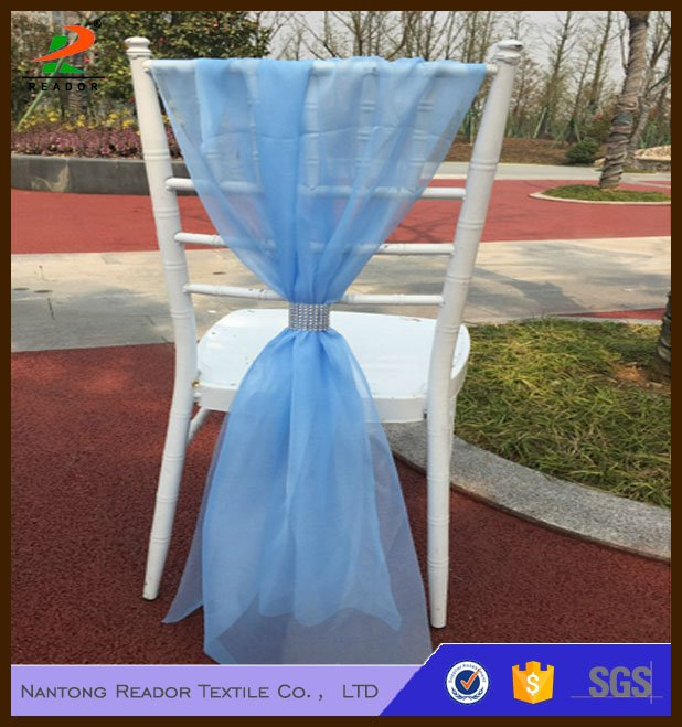 White Organza Chair Sash wedding