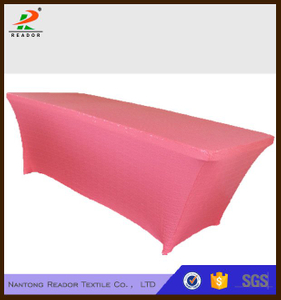Pink Rectangular Customized Spandex Long Bar Table cloth wholesales