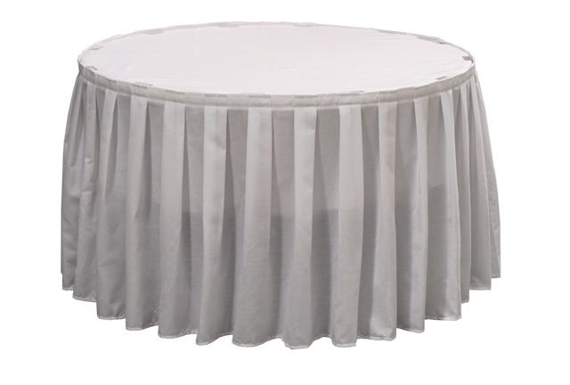 Box Pleated Spun Polyester Table Skirting