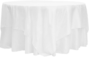 90x90 Square Taffeta Table Overlay Topper