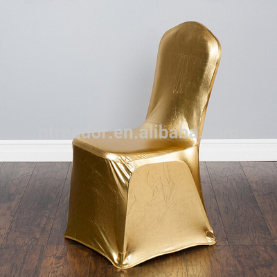Wholesale gold spandex Banquet Chair Cover for sale