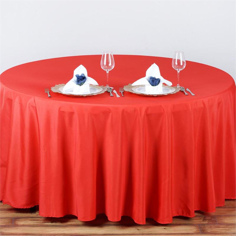 100% 120'' round polyester table cloth