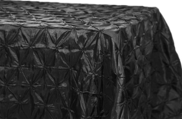 "90x156"" Rectangular Pinchwheel Taffeta Tablecloth Supplier"