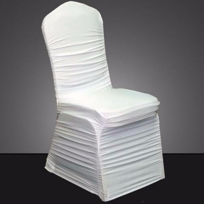 Wholesale ruffle banquet chair cover wedding