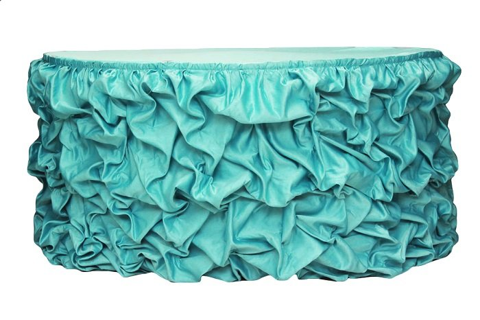 Fancy Gathering Table Skirt Wedding Table Cloth Wholesale