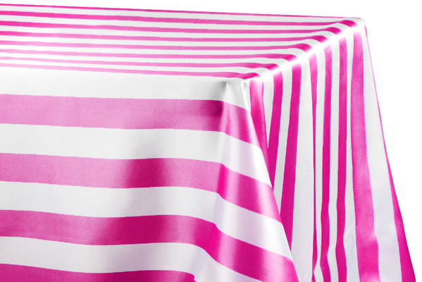 Stripe Customize Satin Rectangular Tablecloth