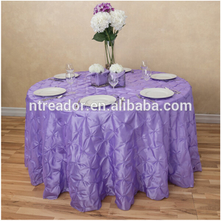 Wholesale pinwheel taffeta round table cloth wedding