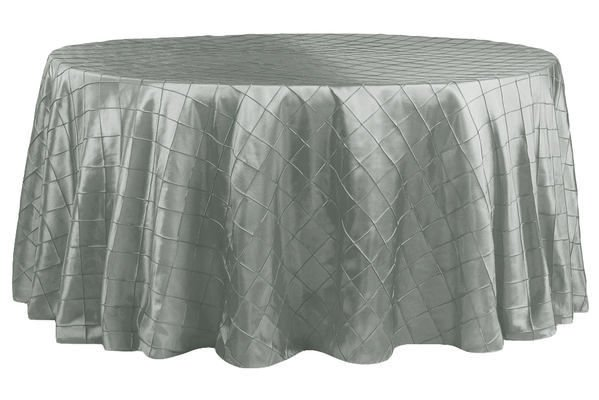 "120"" Round Pintuck Taffeta Tablecloths wholesale"