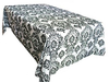 Rectangle Customize Damask Flocking Tablecloth Wholesale