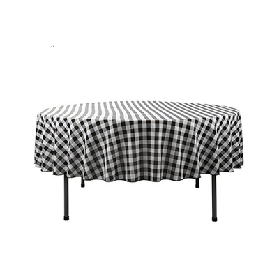 100% polyester checkered table cloth supplier