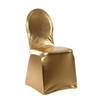 Gold Metallic Damask Spandex Banquet Chair Cover supplier