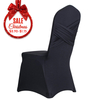 Wholesale cheap black ruched spandex polyester chair cover wedding decoration