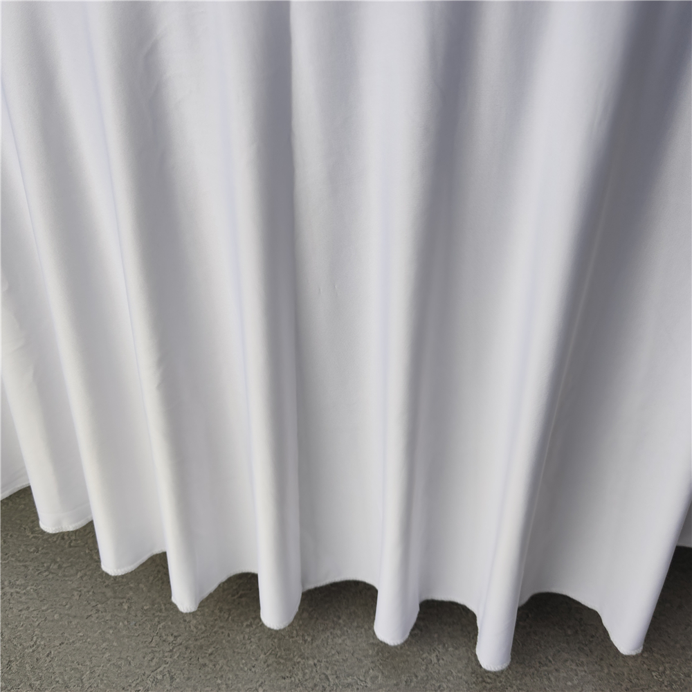round spandex table skirt