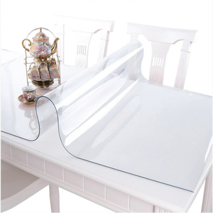 PVC Table Cover Transparent Tablecloth Rectangle Protector Desk Pad Soft Glass Dining Top Table Cloth Plastic Mat