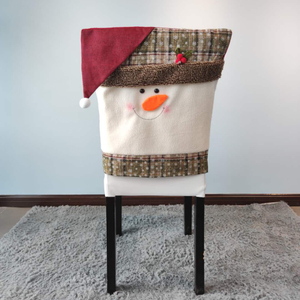 wholesale christmas printed dining chair cover chair seat protector for dining room kitchen home