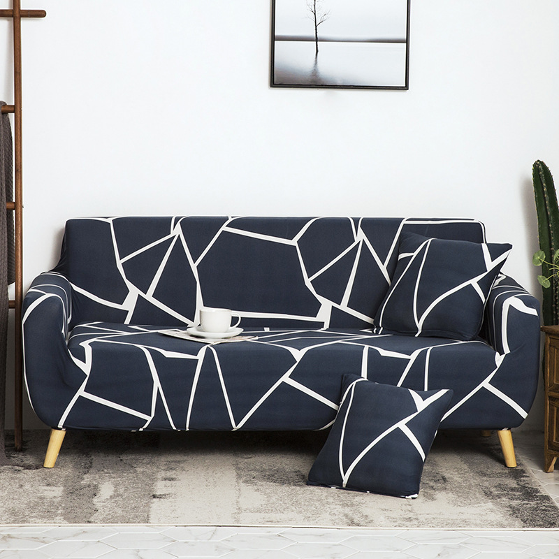 waterproof stretch geometry printed sofa cover spandex washable couch covers