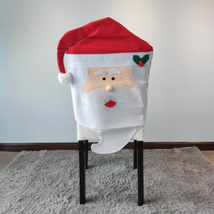 christmas printed dining chair cover