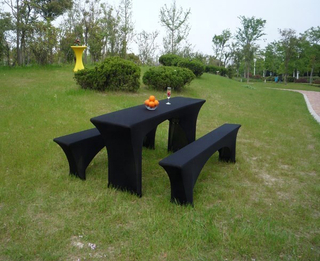 wholesale spandex beer bench 3 set table cover