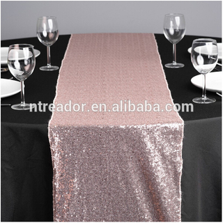 Wholesale cheap silver sequin dining table runner
