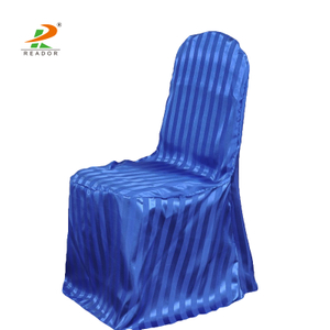 Wholesale Cheap Fancy Striped Satin Banquet Chair Cover For Sale