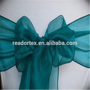 Organza Chair Cover Bow Sash Wedding Banquet Decoration Dark Teal