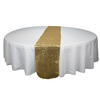 Elegant Glitter Custom Rose Gold Sequin Dining Room Table Runners Wedding