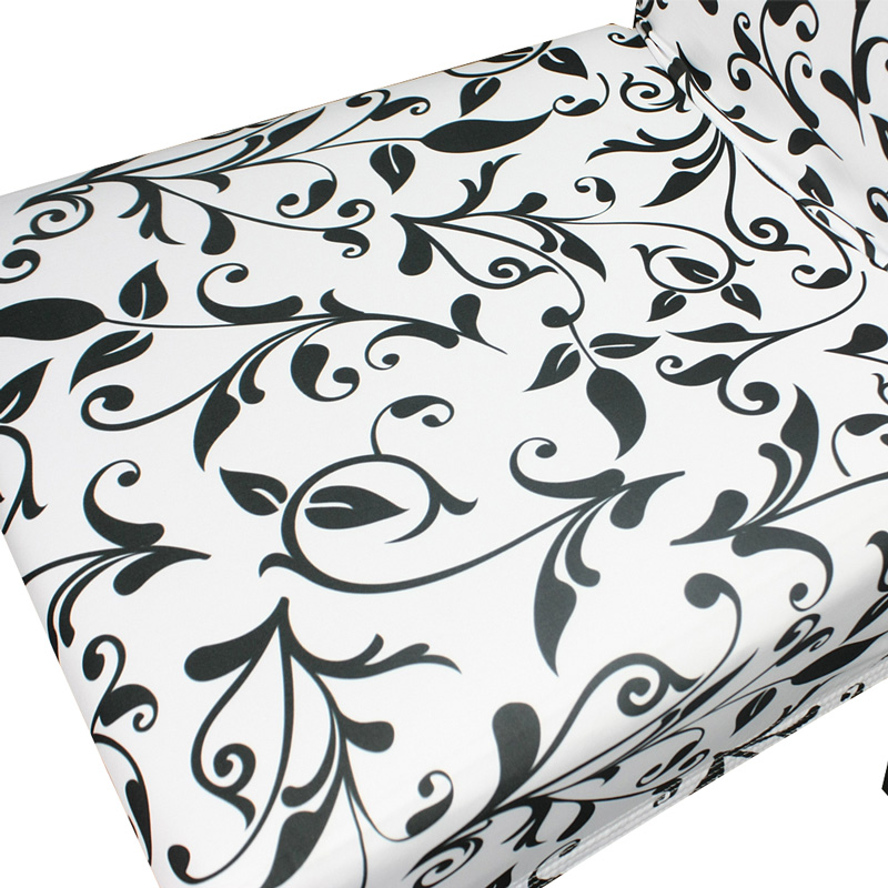 wholesale cheap flower print stretch removeable washable spandex dinning chair covers, China factory