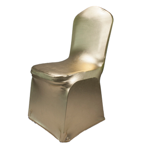 Lycra Spandex Gold Metallic Glittering Banquet Wedding Chair Covers