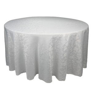 Polyester round jacquard fitted table cloths wedding banquet custom tablecloth for sale factory price
