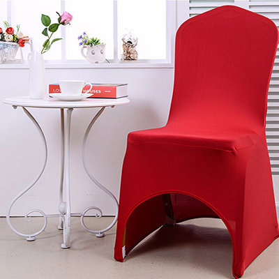 White cheap lycra Arch Front spandex chair cover wedding decoration
