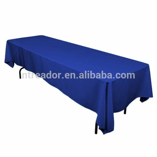 dinning blue rectangle party banquet tablecloth wedding table cloth restaurant
